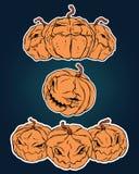 Halloween-geplaatste stickers Stock Afbeeldingen