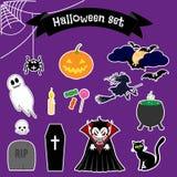 Halloween-geplaatste stickers Royalty-vrije Stock Fotografie