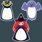 Halloween-Geschenkmarken Lizenzfreies Stockfoto