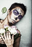 Halloween-Gesichtskunst Lizenzfreies Stockbild
