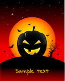 Halloween-gespenstische Tapete Lizenzfreies Stockbild