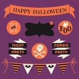 Halloween-Gestaltungselement-Satz Stockbilder