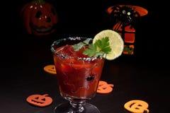 Halloween-Getränke - Bloody- Marycocktail Stockbild