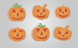 Halloween-gezichten Royalty-vrije Stock Afbeelding