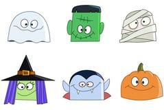 Halloween-gezichten Stock Afbeeldingen