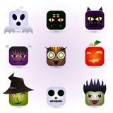 Halloween-gezichten Stock Afbeelding