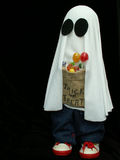 Halloween ghost. Haloween ghost trick-or-treating Royalty Free Stock Image