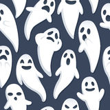 Halloween Ghost Background. A Halloween themed background depicting ghosts with various expressions and poses. Seamlessly repeatable Royalty Free Stock Photo