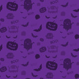 Halloween Ghost Bat Pumpkin Seamless Pattern Backg Royalty Free Stock Photos