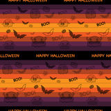 Halloween Ghost Bat Pumpkin Seamless Pattern Backg Stock Photos