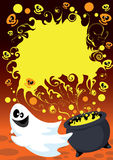 Halloween ghost card Stock Photo