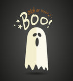 Halloween ghost. Cartoon abstract background Royalty Free Stock Photo
