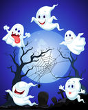 Halloween ghost cartoon Stock Photo