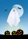 Halloween ghost cartoon Stock Image