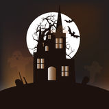 Halloween :  Ghost Castle Stock Image