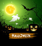 Halloween ghost design background Royalty Free Stock Image
