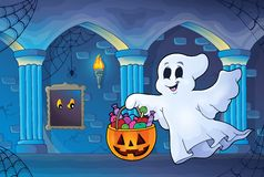 Halloween ghost in haunted castle Royalty Free Stock Photography