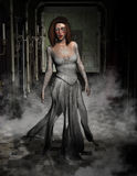 Halloween Ghost, Haunted House Illustration Stock Image