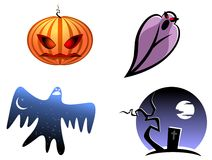 Halloween and ghost icons Royalty Free Stock Images
