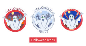 Halloween Ghost Icons Stock Photos