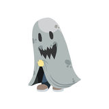 Halloween ghost kid Stock Image