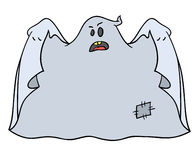 Halloween ghost 003. Nice jolly ghost imitates that he opening a coat Royalty Free Stock Image