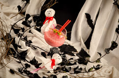 Halloween ghost party cocktail Stock Photo