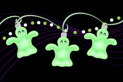 Halloween Ghost Party Lights Royalty Free Stock Photos