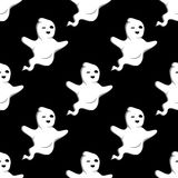 Halloween ghost seamless pattern Royalty Free Stock Images