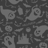 Halloween ghost seamless pattern stock illustration