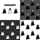 Halloween ghost. Seamless pattern set Royalty Free Stock Photography