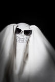 Halloween a ghost in sunglasses Stock Photography