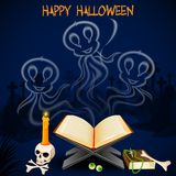 Halloween Ghost. Vector illustration of Halloween ghost coming out of book Royalty Free Stock Images