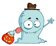 Halloween ghost waving Royalty Free Stock Images
