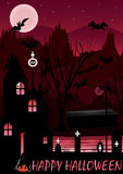 Halloween Ghost Welcome_eps. Halloween card with ghost came out and celebrate Halloween Stock Image
