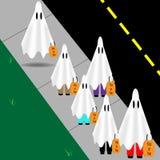 Halloween ghosts ilustração stock