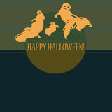 Halloween with ghosts Royalty Free Stock Photo