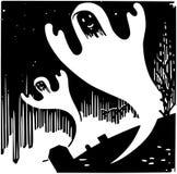 Halloween ghosts ilustração royalty free