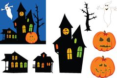 Halloween Ghosts. Royalty Free Stock Photography