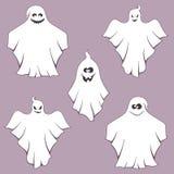 Halloween ghosts ilustração do vetor