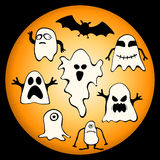 Halloween Ghosts Royalty Free Stock Photo