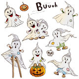 Halloween ghosts Stock Photo