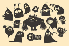 Halloween ghosts. Halloween funny ghosts characters Royalty Free Stock Photos