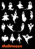 Halloween ghosts, ghouls and monsters Stock Image
