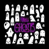 Halloween Ghosts Pattern Square 3 Royalty Free Stock Photo