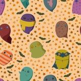 Halloween ghosts pattern stock illustration