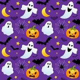 Halloween Ghosts & Pumpkins Seamless Royalty Free Stock Photo