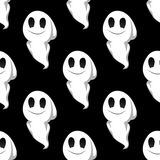 Halloween ghosts seamless pattern background Stock Photography