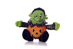 Halloween Ghoul. Plush Halloween Toy in Pumpkin Stock Photos
