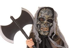 Halloween Ghoul 24. Young boy in a ghoul halloween costume Royalty Free Stock Images